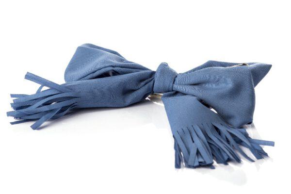 B19-301-8 סיכה פפיון פרנזים בצבע כחול