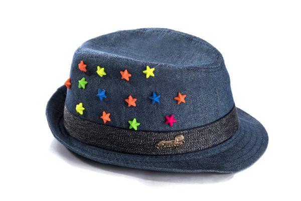 BH19-12 כובע ג'ינס כוכבים