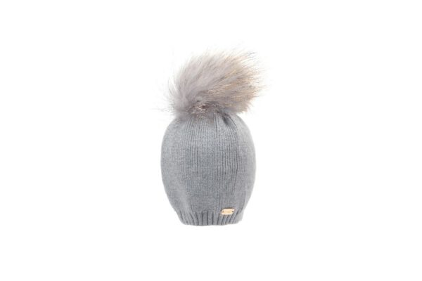 BH20-200_(1) כובע סריג תינוק +פונפון