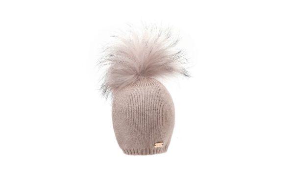 BH20-200_(2) כובע סריג תינוק +פונפון