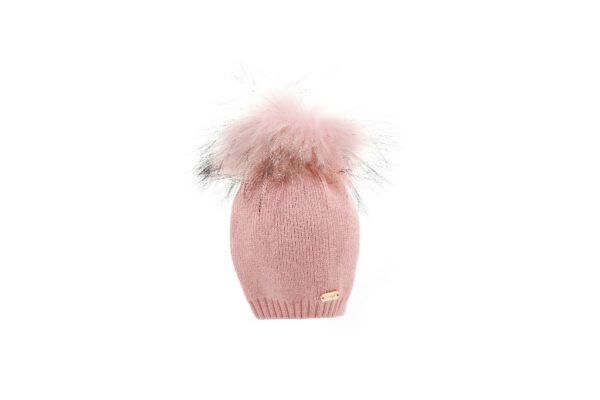 BH20-200_(3) כובע סריג תינוק +פונפון