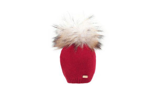 כובע סריג תינוק +פונפון