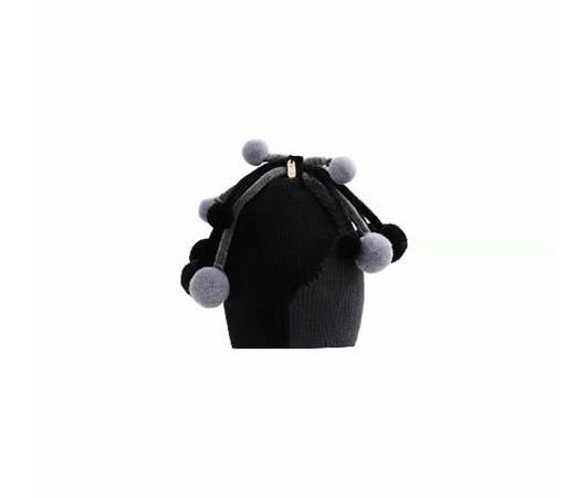 כובע סריג תינוק פונפונים