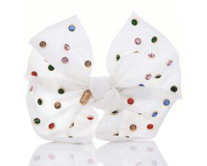 סיכה פפיון אבנים צבעוניות