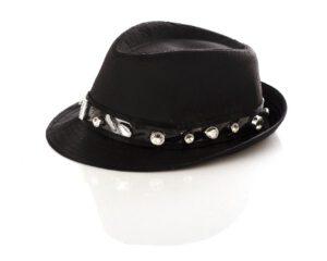 כובע בנים אלגנט PVC עם אבנים